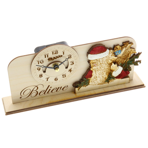 Christmas Clock - Believe Ginger Cottage
