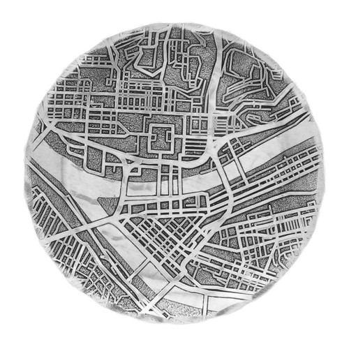 Pittsburgh Map Coaster Wendell August