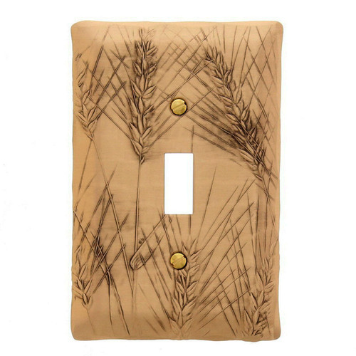 Wheat Single Switch Plate Bronze Wendell August