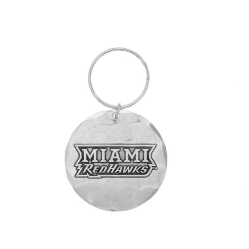 Miami University of Ohio Round Key Ring Wendell August