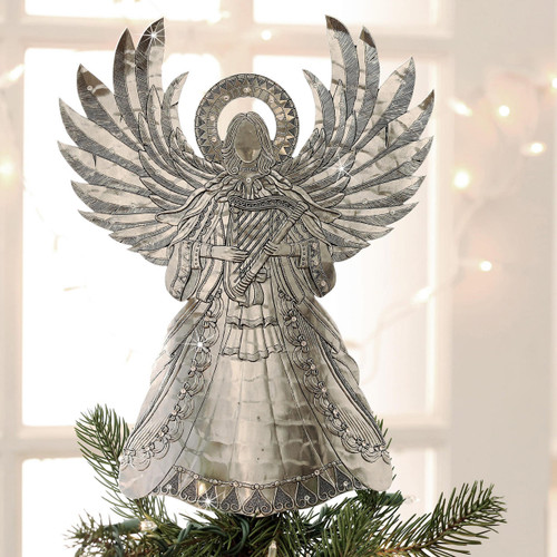 Angel of Harmony Tree Topper with Crystals Wendell August