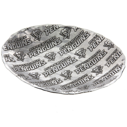 Pittsburgh Penguins Patterned Small Oval Dish Wendell August