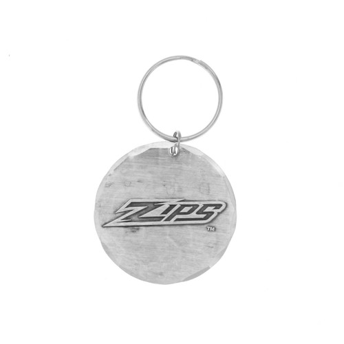 University of Akron Round Key Ring Wendell August