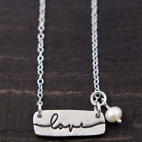 Love Word Charm Necklace Wendell August