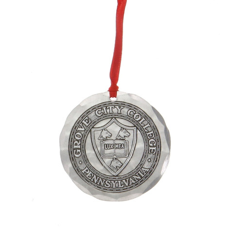 Grove City College Seal Round Ornament Wendell August