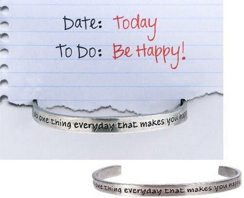 Be Happy Cuff Bracelet Wendell August