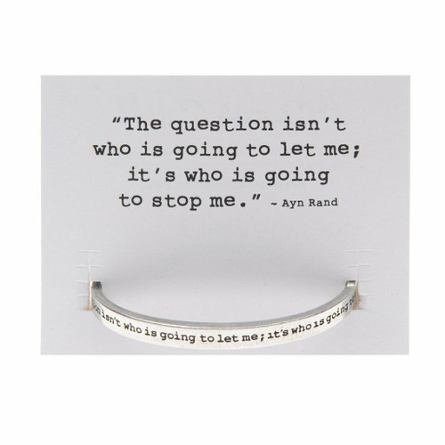 The Question is Cuff Bracelet Wendell August