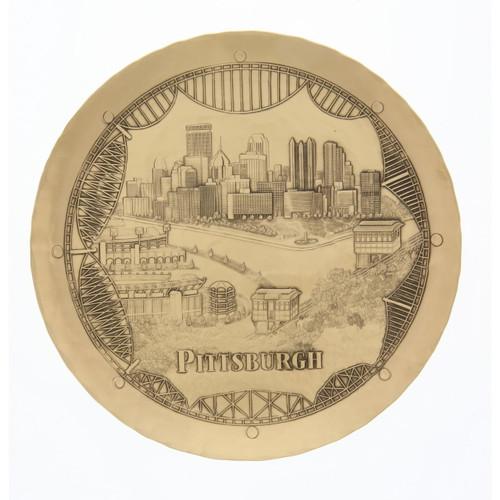 Pittsburgh Bridges 9 Inch Plate Bronze Wendell August