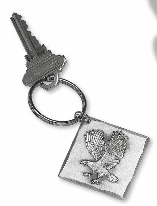 Soaring Eagle Square Key Ring Wendell August