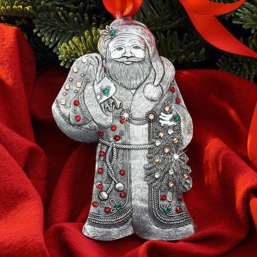 Jolly Old St Nicholas Ornament Aluminum Wendell August