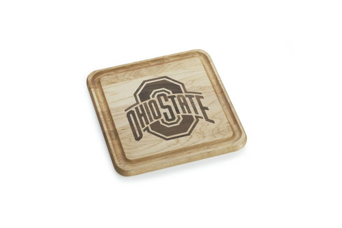 Ohio State 9x9 Maple Inlay Cutting Board Wendell August
