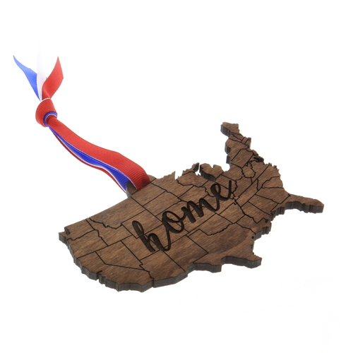 Home Wooden USA Ornament