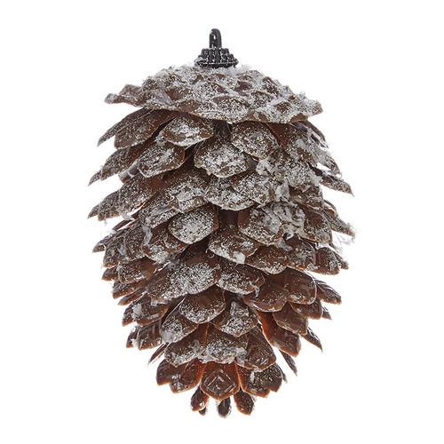 Iced Pine Cone Ornament
