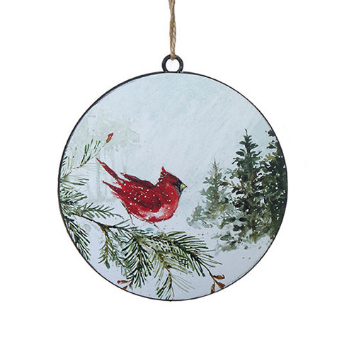 Cardinal Woodland Ornament
