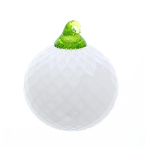 Vessel Glass Handblown Golf Ball Ornament Wendell August