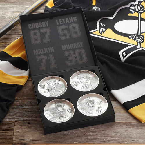 Pittsburgh Penguins Players Edition 4-Piece Coaster Set Wendell August