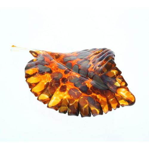 Vessel Glass Handblown Leaf - Tortoise Wendell August