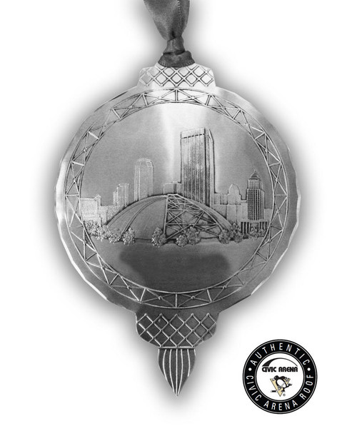 Pittsburgh Penguins Civic Arena Roof Legacy Ornament Wendell August