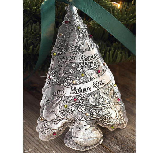 Oh Christmas Tree Ornament- When Heaven and Nature Sing Aluminum Wendell August