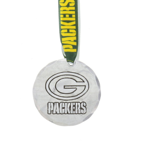 Green Bay Packers Small Round Ornament Aluminum Wendell August