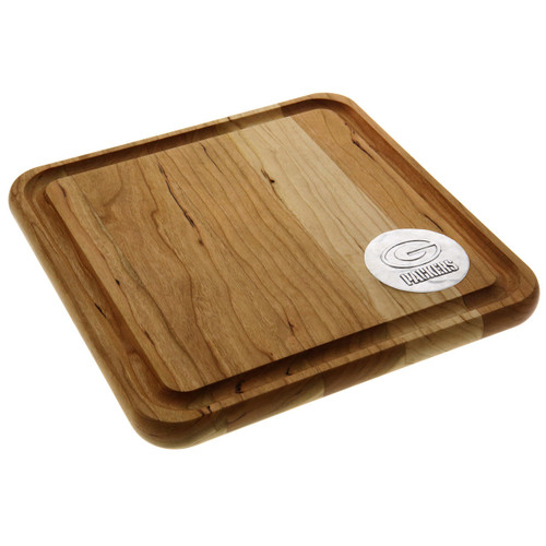 Green Bay Packers 9x9 Cherry Cutting Board Wendell August