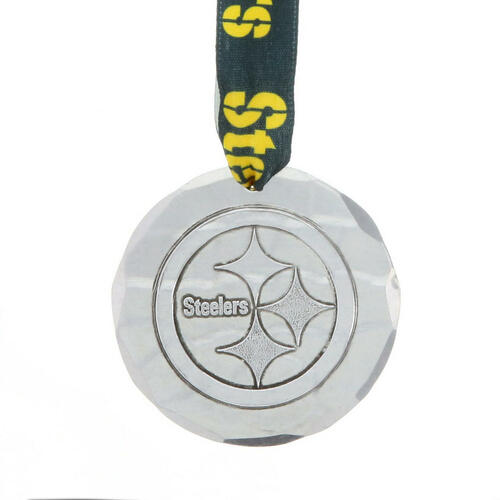 Pittsburgh Steelers Small Round Ornament Aluminum Wendell August