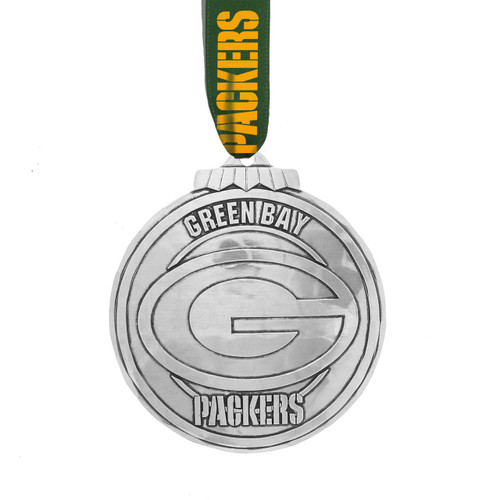 Green Bay Packers Classic Round Ornament Aluminum Wendell August