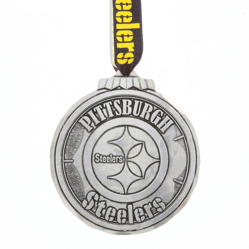 Pittsburgh Steelers Classic Round Ornament Aluminum Wendell August