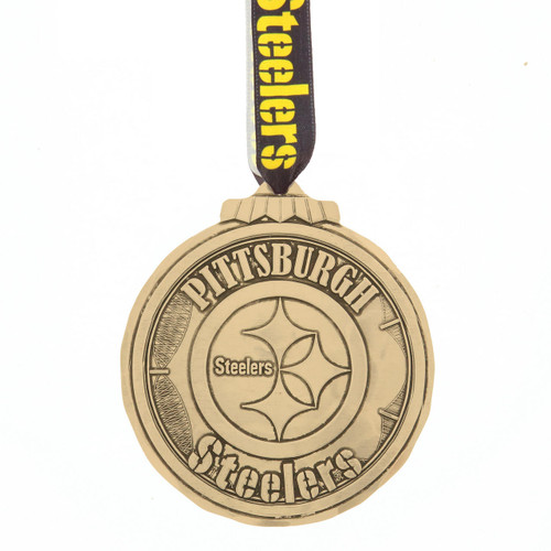Pittsburgh Steelers Classic Round Ornament Bronze Wendell August