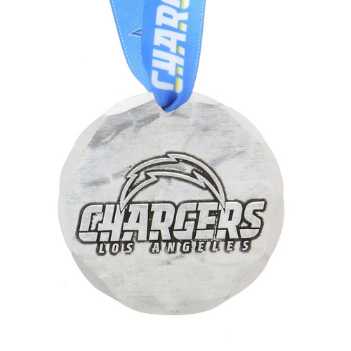 Los Angeles Chargers Small Round Ornament Aluminum Wendell August