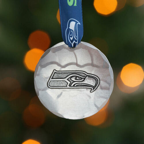Seattle Seahawks Small Round Ornament Aluminum Wendell August