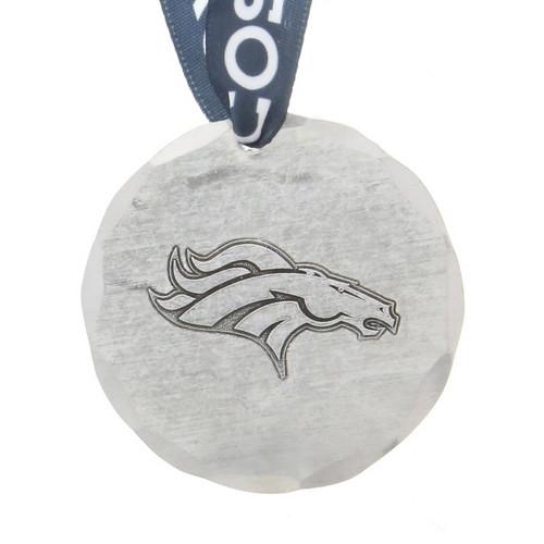 Denver Broncos Small Round Ornament Aluminum Wendell August