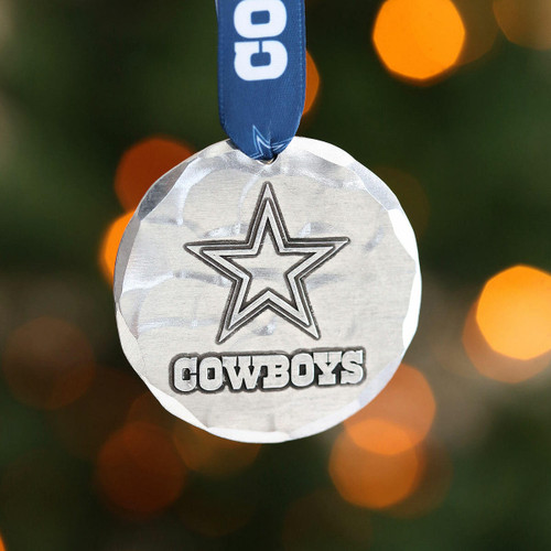 Dallas Cowboys Small Round Ornament Aluminum Wendell August