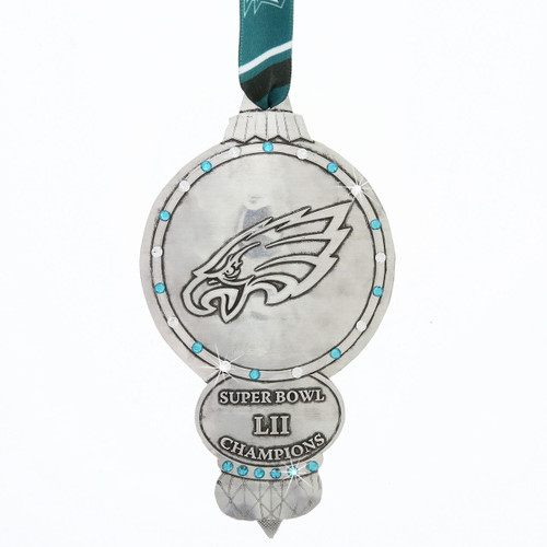 Philadelphia Eagles Collectors Edition Ornament with Crystals Wendell August
