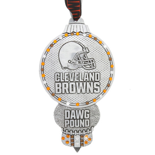 Cleveland Browns Collectors Edition Ornament with Crystals Wendell August