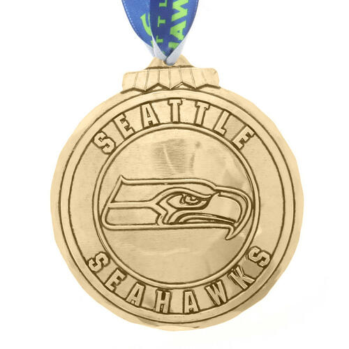 Seattle Seahawks Classic Round Ornament Bronze Wendell August