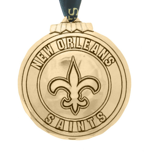 New Orleans Saints Classic Round Ornament Bronze Wendell August
