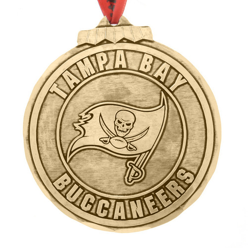Tampa Bay Buccaneers Classic Round Ornament Bronze Wendell August