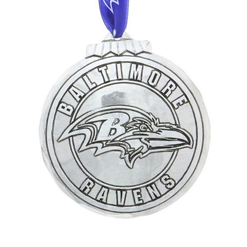 Baltimore Ravens Classic Round Ornament Aluminum Wendell August