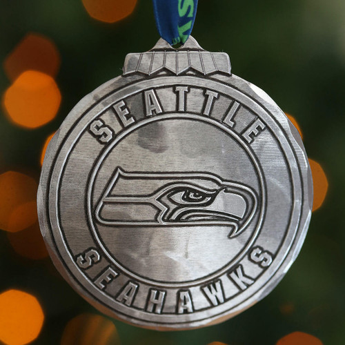 Seattle Seahawks Classic Round Ornament Aluminum Wendell August