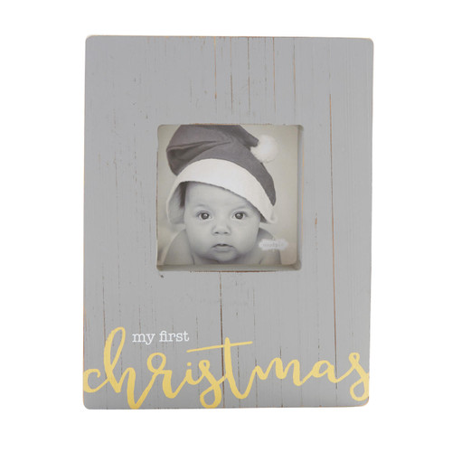 My First Christmas Block Frame Wendell August
