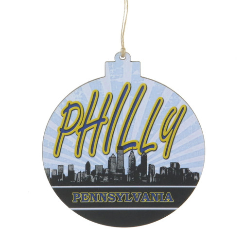 Philly Wooden Ornament Wendell August