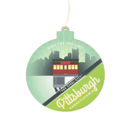 Pittsburgh Incline Wooden Ornament Wendell August