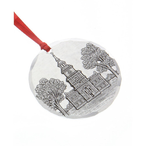 Independence Hall Small Round Ornament Wendell August