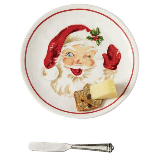Vintage Santa Cheese Set Wendell August