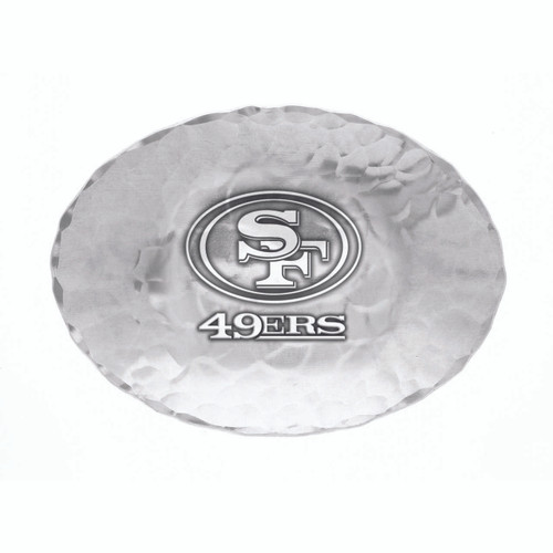 San Francisco 49ers Logo Small Oval Bowl Wendell August