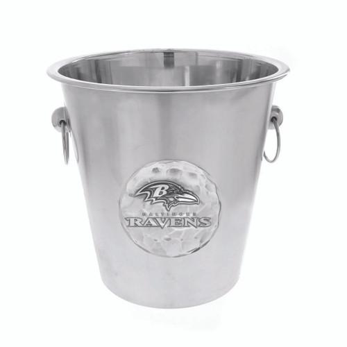 Baltimore Ravens Logo Champagne Bucket Wendell August