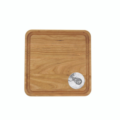 Tennessee Titans 9x9 Cherry Cutting Board Wendell August