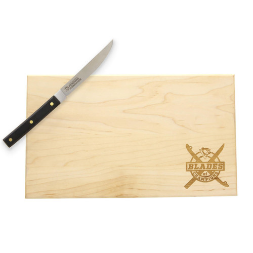 Pittsburgh Penguins Blades of Champions Cutting Board and Knife Set Wendell August