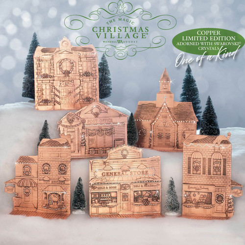 Limited Edition 6-Piece Copper Magic Christmas Village Wendell August
